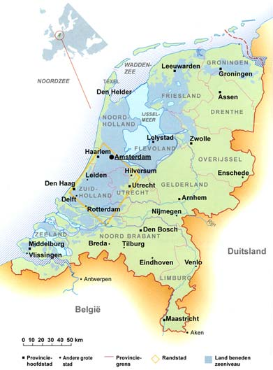 Map of the Netherlands Sababanl